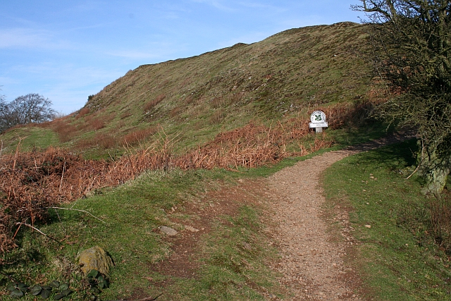 The Iron-Age Ramparts on Midsummer Hill