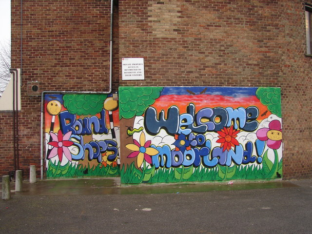 Mural at the Round Shops, Moorland Avenue