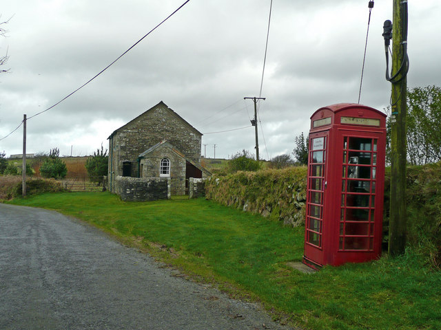 Chapel and telephone box