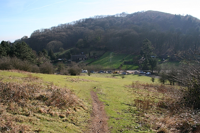 The Path down to the Hollybush Pass Car Park