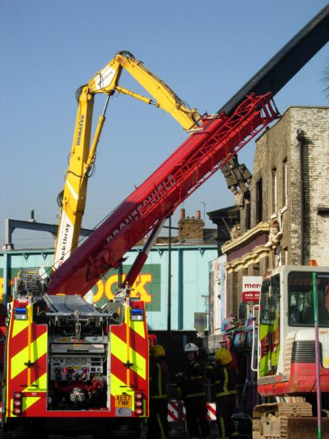 Demolition at Camden Town