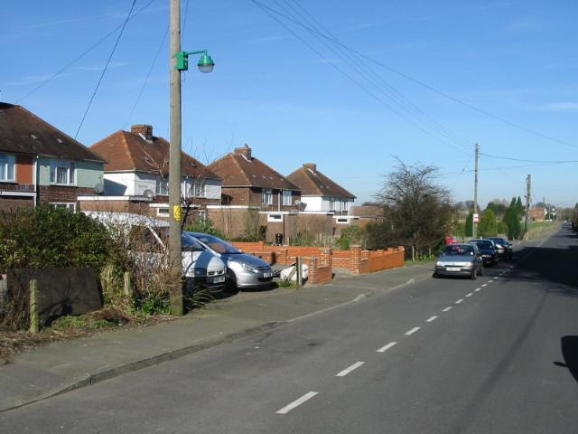 Looking N along Jubilee Road, Worth
