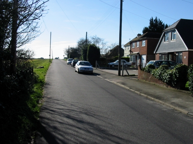 Looking S along Jubilee Road towards the A258