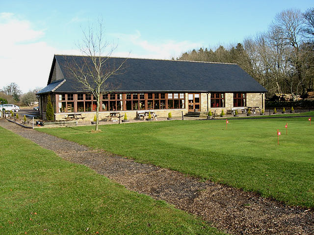 The clubhouse at Ashkirk Golf Course