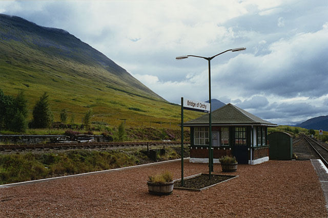 South end of Bridge of Orchy station