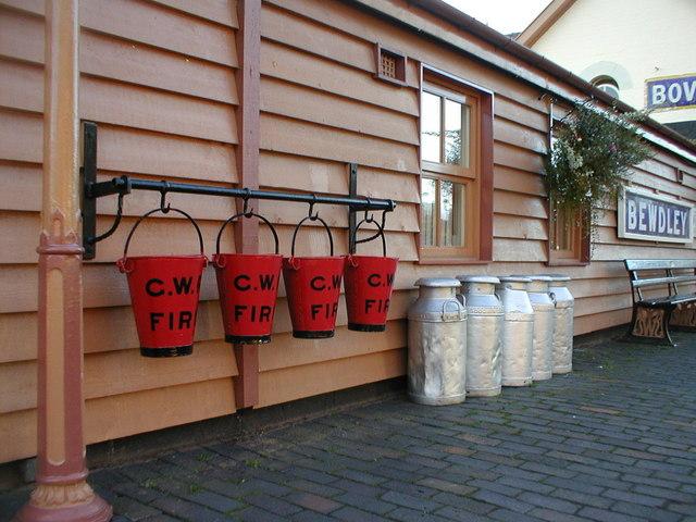 Churns & Fire Buckets at Bewdley SVR