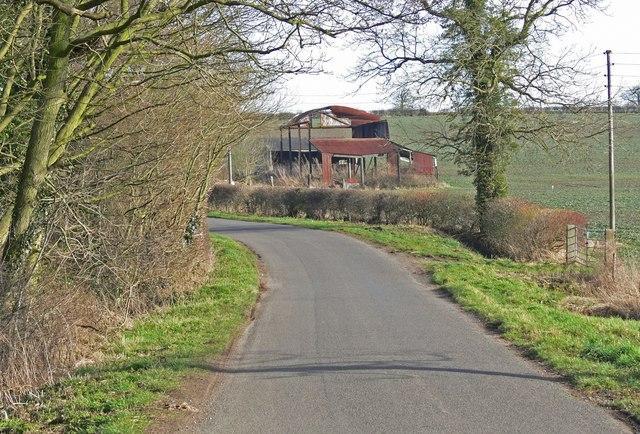 Orton Lane next to Orton Wood