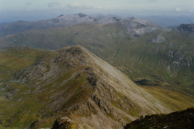 View towards the ridge of Stob an Cul Choire