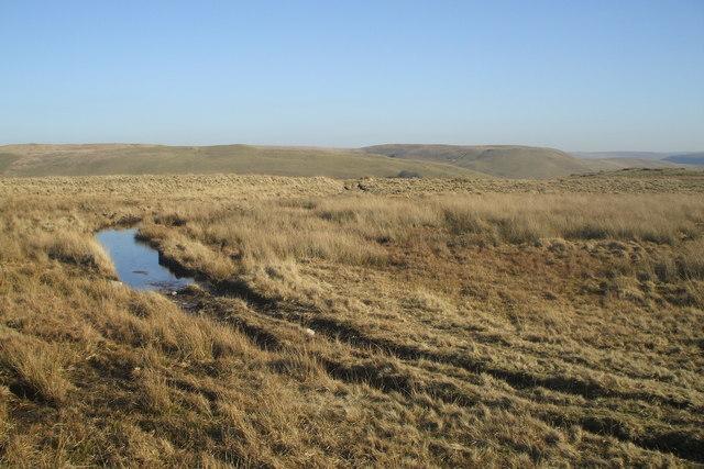 Monks Trod track near Afon Claerddu