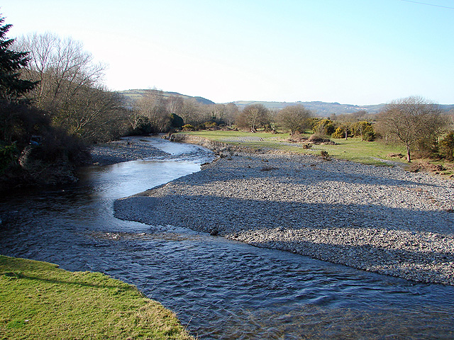The Rheidol from Pont Rheidol at Rhiwarthen