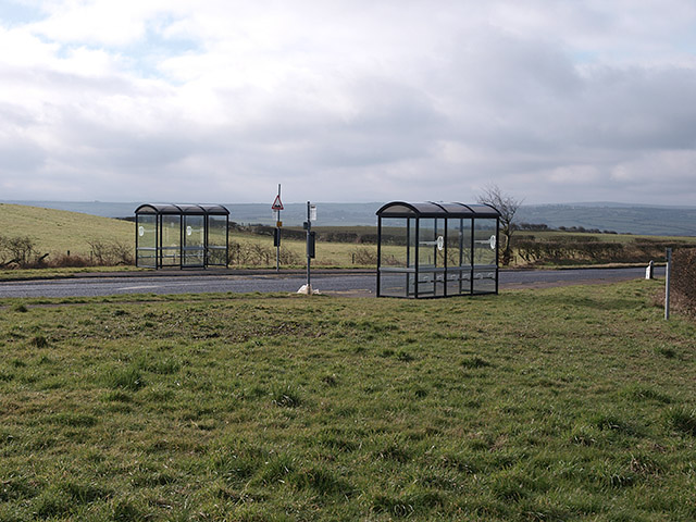 Bus shelters on the A174