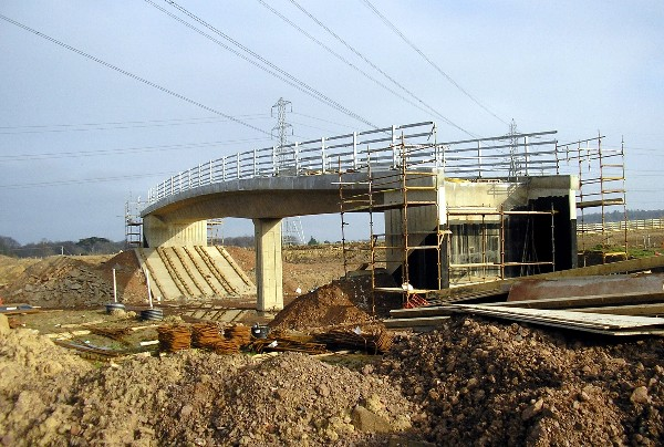Bridge over Dalkeith bypass (under construction)