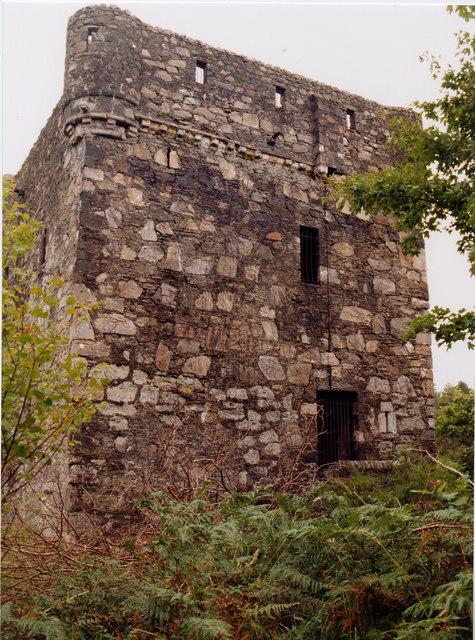 Kinlochaline Castle before rebuild - 1997
