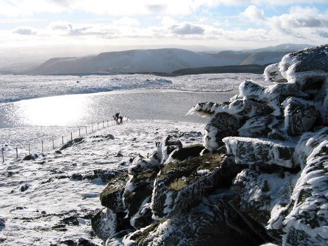 Llyn y Fign from summit cairn of Glasgwm
