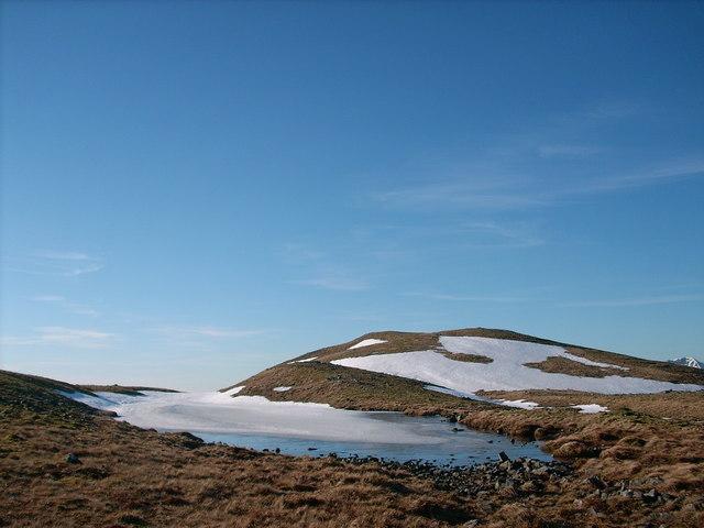 Lochan with summit of Beinn Mhic Mhonaidh behind
