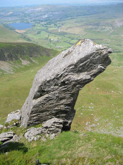 Rock feature on the ridge