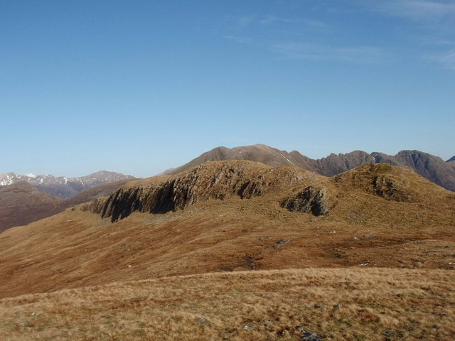 The craggy summit crest of Meall Mor