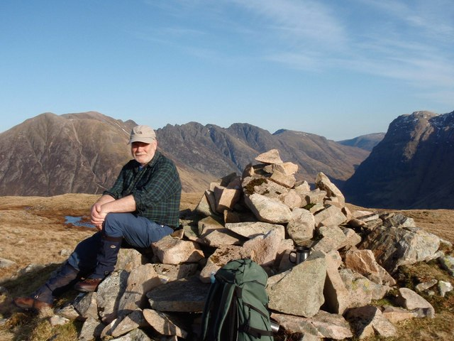 The summit cairn on Meall Mor