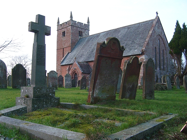 Graveyard at All Saints Church, Scaleby