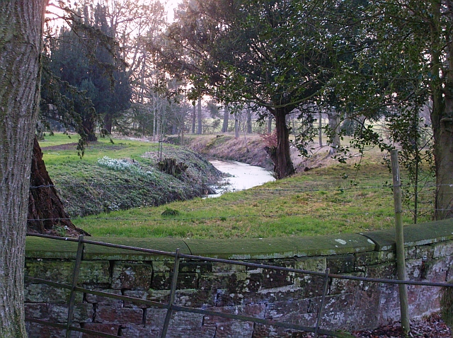 Moat at Scaleby Castle