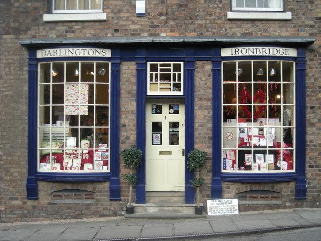 Darlingtons of Ironbridge - a souvenir shop