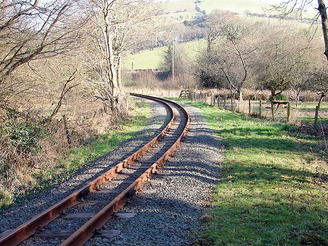 Vale of Rheidol Railway leaving Glanyrafon