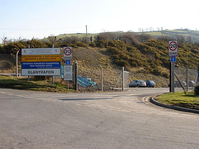 Ceredigion County Council Yard, Glanyrafon