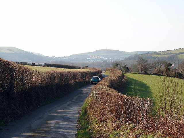 The lane from Capel Bangor to Glanyrafon