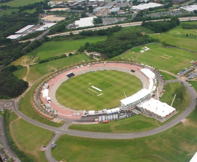 Aerial view of Rose Bowl Cricket Ground