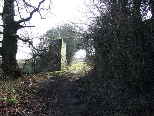 Remains of old railway bridge