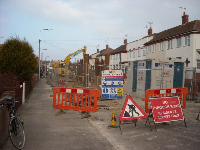 Road Works at Sidley