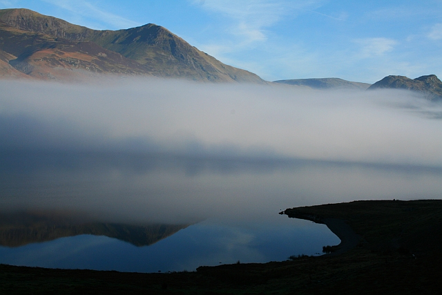Temperature Inversion Over Crummock Water