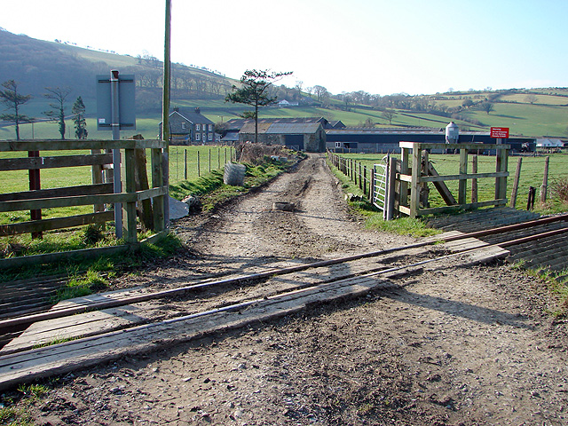 Track across the railway