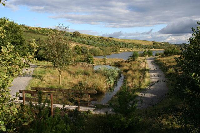 Footbridge at Cowm Reservoir