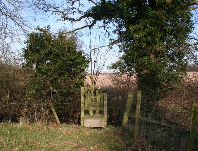Footbridge on the Path to Lower Hook Farm