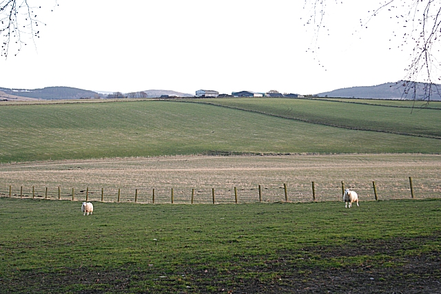 Looking from Netherton towards Overhall