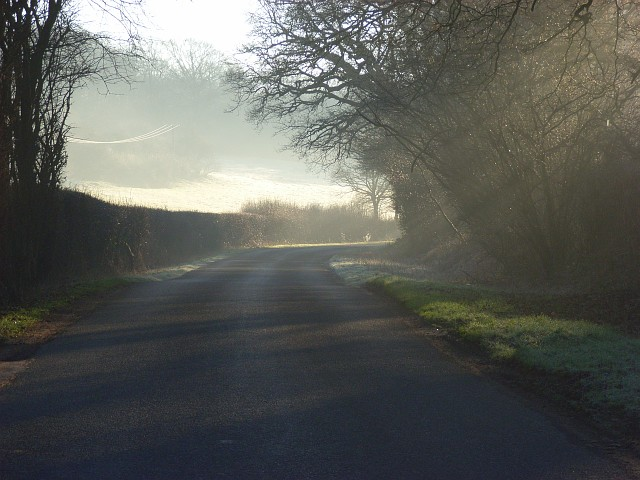 Road near Fosbury
