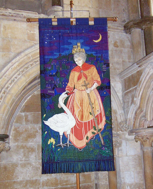 Lincoln Cathedral - Embroidered Banner depicting St. Hugh