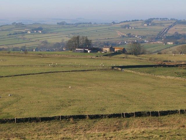 Pastures above Stone Stile