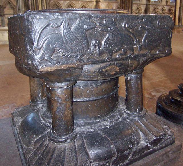 Lincoln Cathedral - the Font