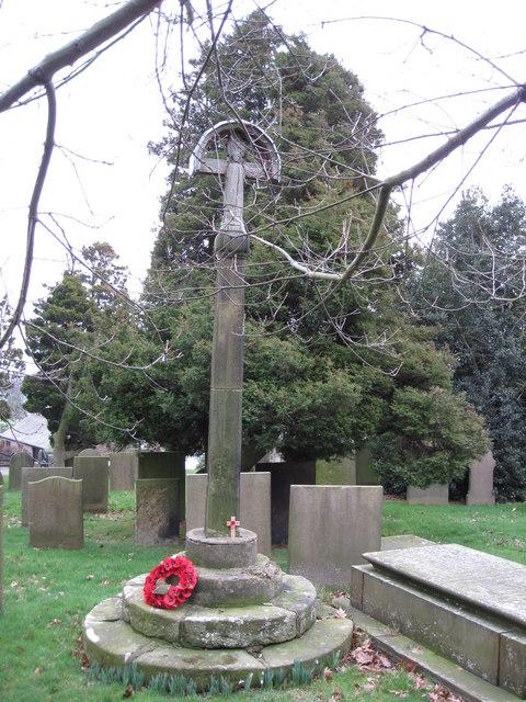 Memorial in Barlow Churchyard