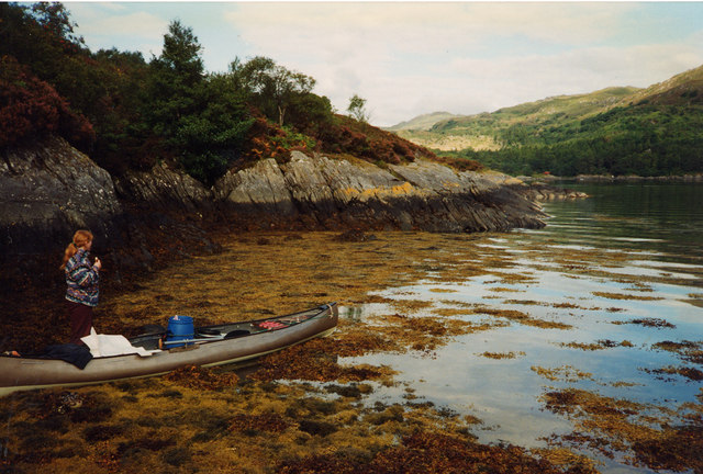 Carna, beached canoe