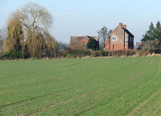 Field and Farmhouse towards Upper Aston, Shropshire