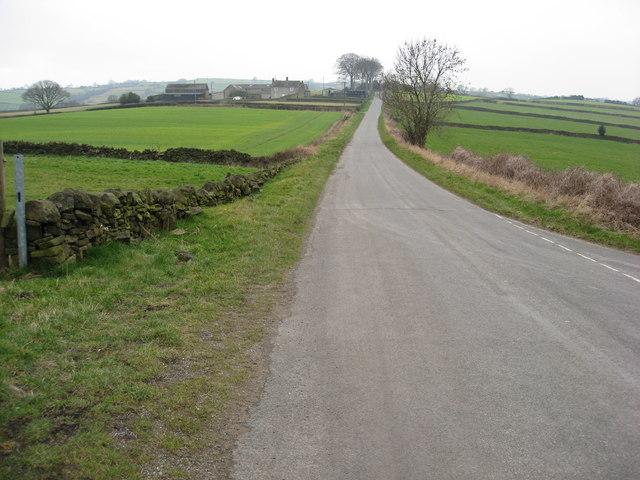 Grange Lane - View from Lane Junction near Bolehill