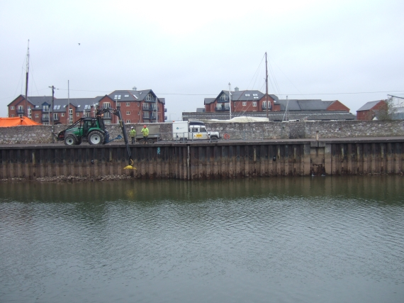 Quayside with dredging work