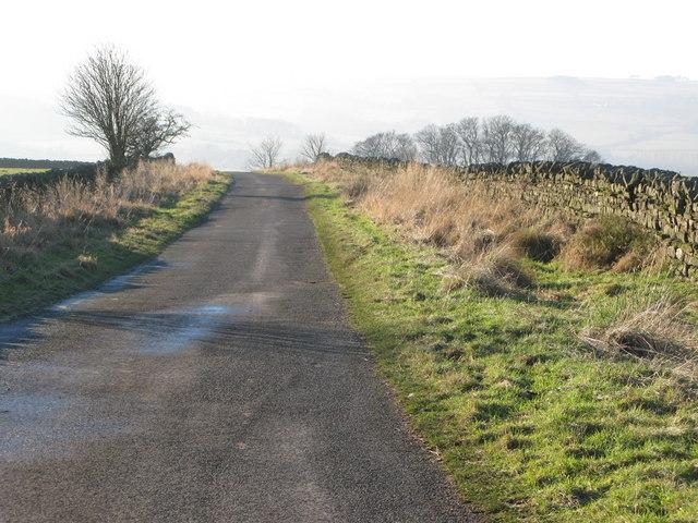 Minor road near Stone Stile
