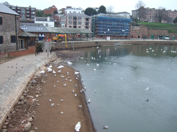 Silt on edge of River Exe, quay in background