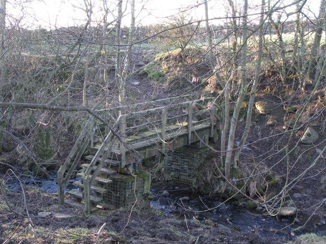 Footbridge over Catton Burn