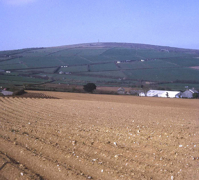 Large potato field near the Dupath Road