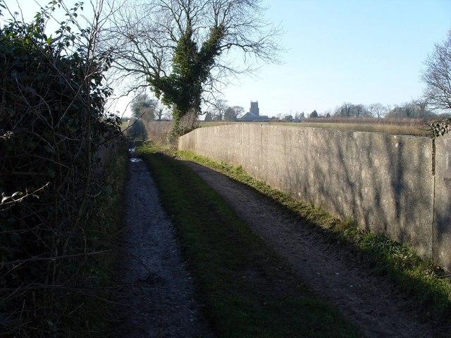 Railway bridge over disused railway, North Elmham